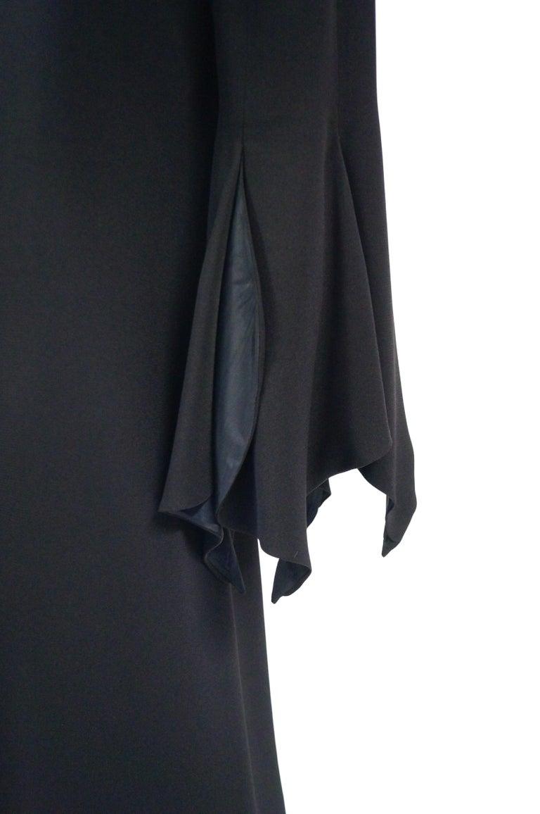 Women's 1960s Geoffrey Beene Black Petal Bell Sleeve Cocktail Dress For Sale