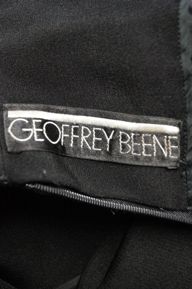 1960s Geoffrey Beene Black Petal Bell Sleeve Cocktail Dress For Sale 5