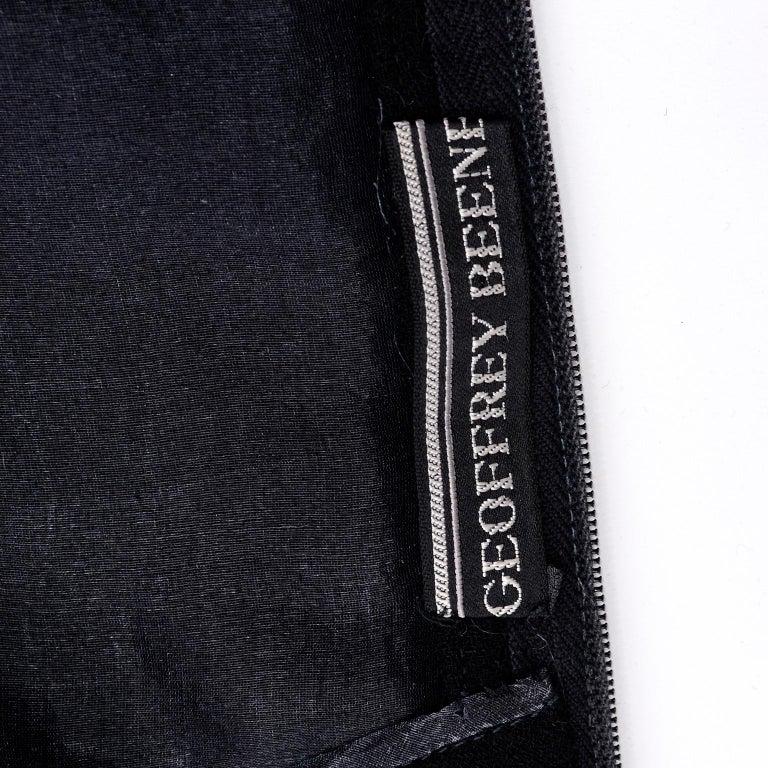 1960s Geoffrey Beene Vintage Black Knit Mini Tent Dress With Wide Belt For Sale 8
