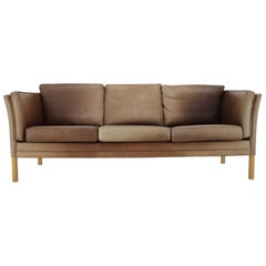 1960s Georg Thams Leather 3-Seat Sofa
