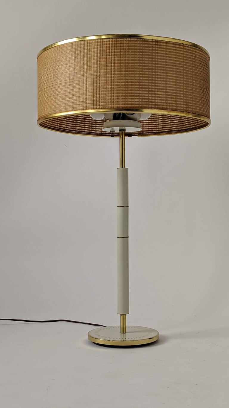 Mid-Century Modern 1960s Huge Gerald Thurston 3 Lights Tall Table Lamp , USA  For Sale