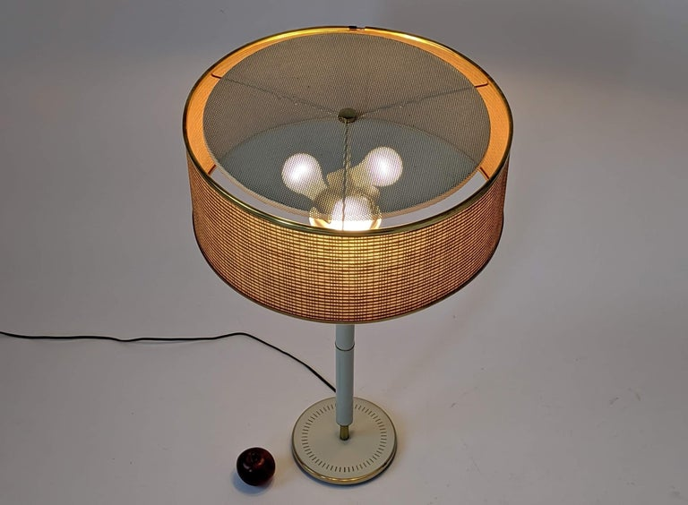 1960s Huge Gerald Thurston 3 Lights Tall Table Lamp , USA  For Sale 1