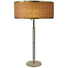 1960s Huge Gerald Thurston 3 Lights Tall Table Lamp , USA