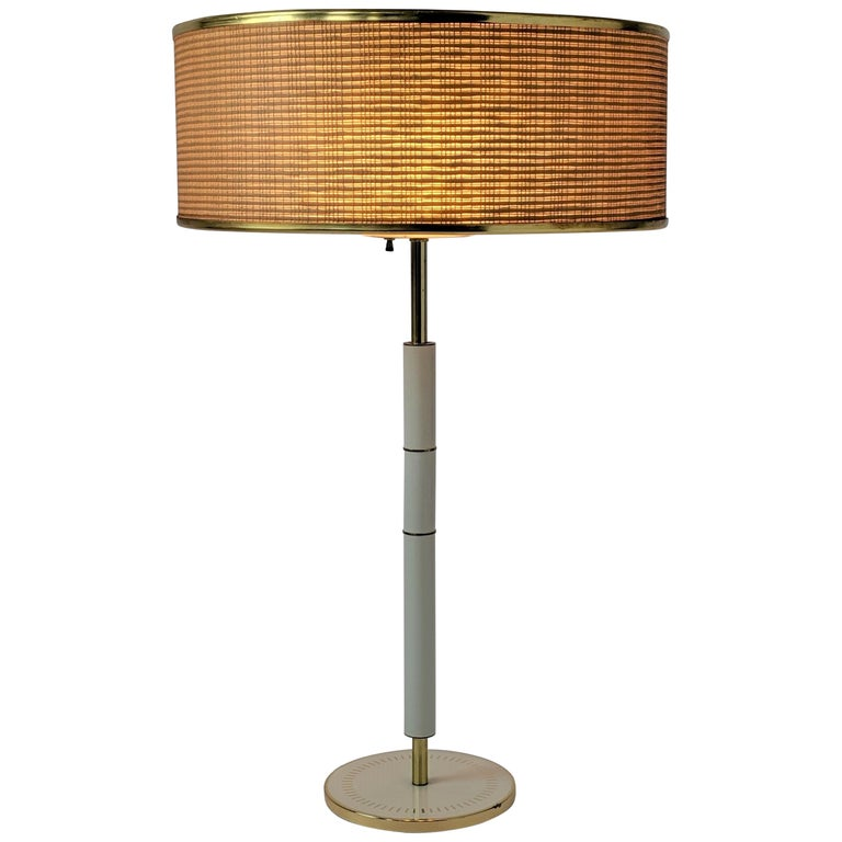 1960s Huge Gerald Thurston 3 Lights Tall Table Lamp , USA  For Sale