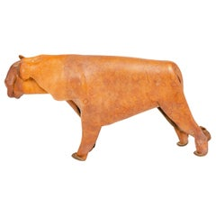 1960s German Leather Toy Lioness by Deru