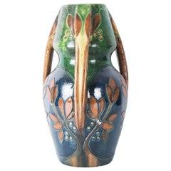 1960s German Midcentury Floral Vase