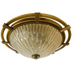 1960s German Nautical Murano Flush Light