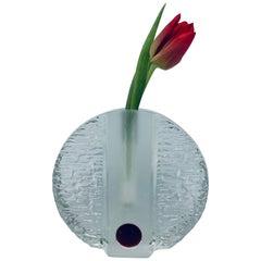 1960s German Walther Glas 'Solifleur' Single Stem Round Textured Vase