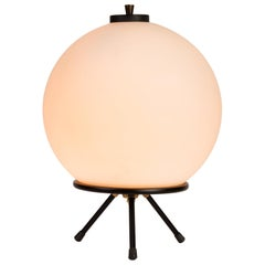 1960s Gilardi & Barzaghi Large Glass Tripod Table or Floor Lamp
