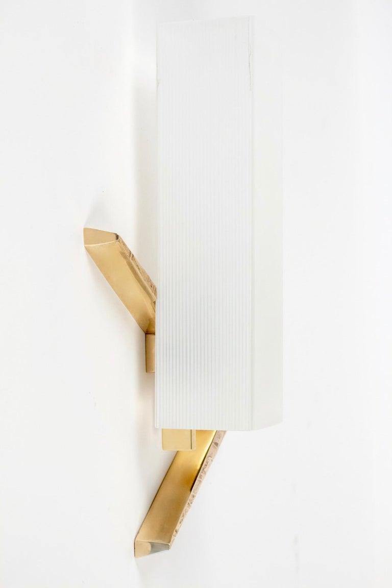 Mid-Century Modern 1960s Gilded Bronze Arlus Sconces For Sale