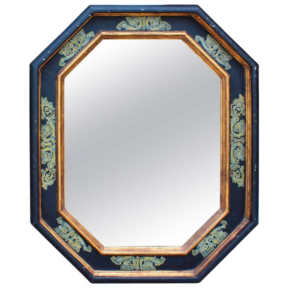 1960s Gilded Wooden Painted Mirror