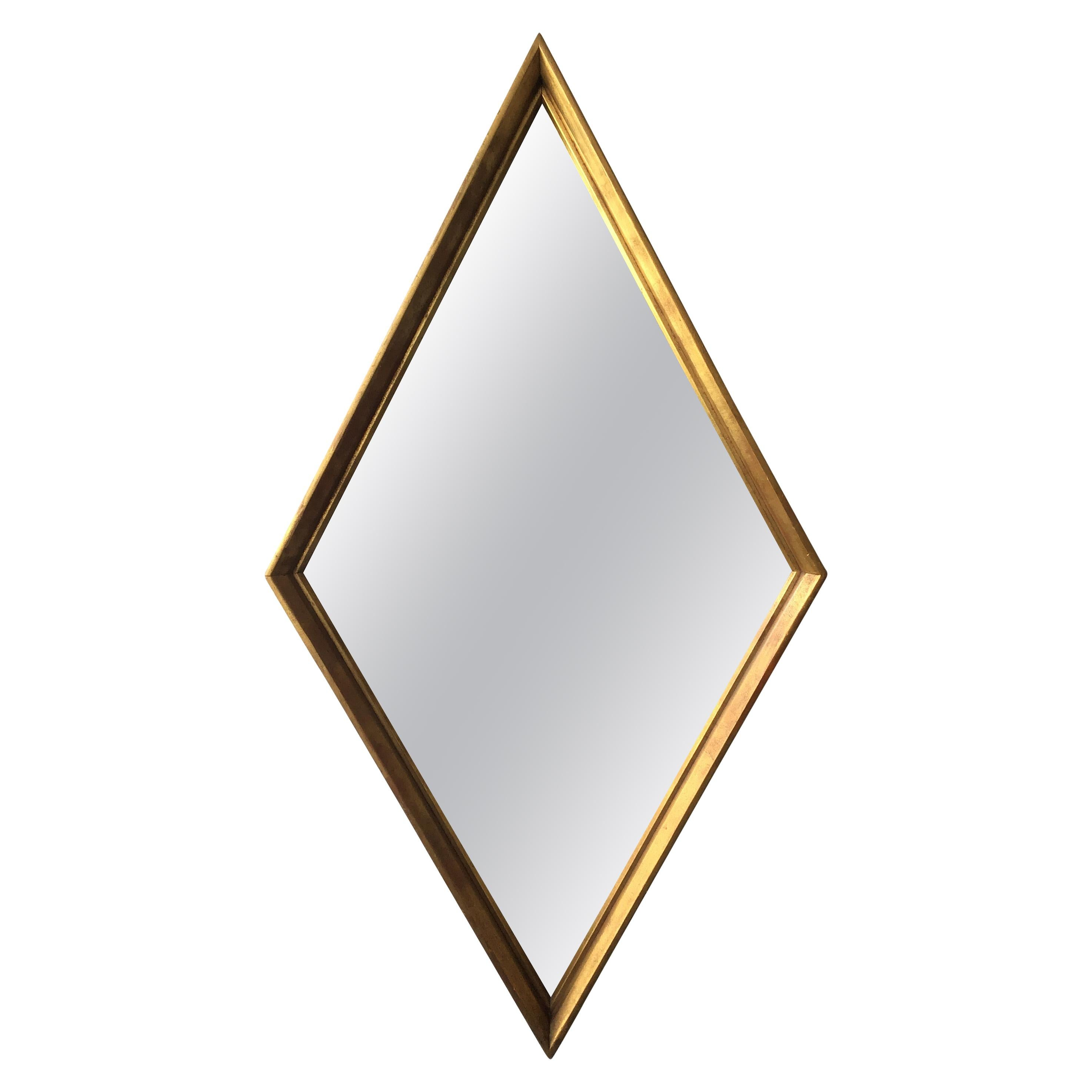 1960s Giltwood Diamond Shaped Mirror For Sale At 1stdibs