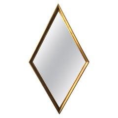 1960s Giltwood Diamond Shaped Mirror