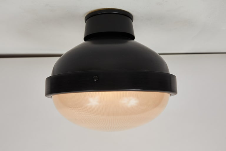 1960s Gino Sarfatti Model 3027/p/g Metal and Glass Ceiling Lamp Arteluce For Sale 2