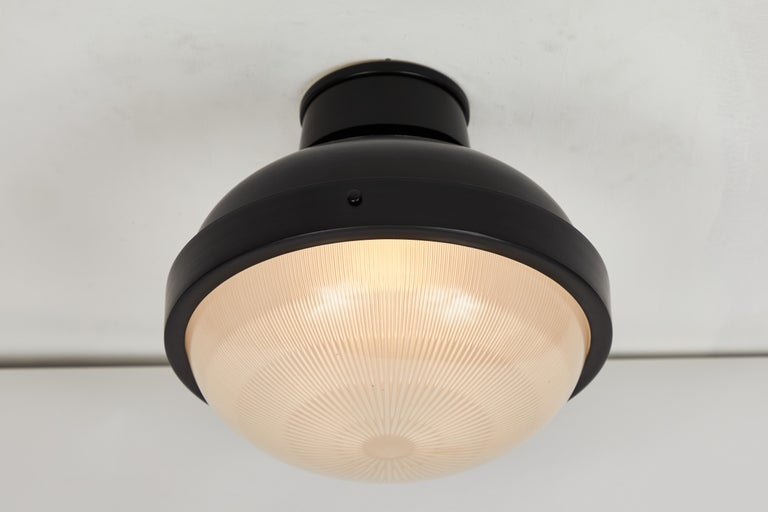 1960s Gino Sarfatti Model 3027/p/g Metal and Glass Ceiling Lamp Arteluce For Sale 1