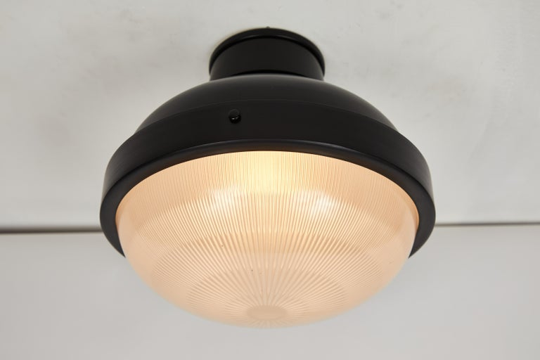 1960s Gino Sarfatti Model 3027/p/g Metal and Glass Ceiling Lamp Arteluce For Sale 3