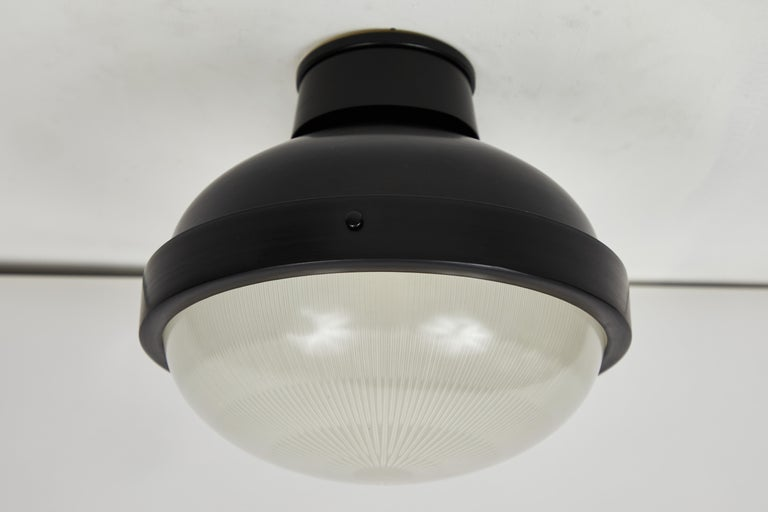 Mid-Century Modern 1960s Gino Sarfatti Model 3027/p/g Metal and Glass Ceiling Lamp Arteluce For Sale