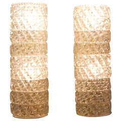 1960s Glass Wall Sconces from Murano, Italy