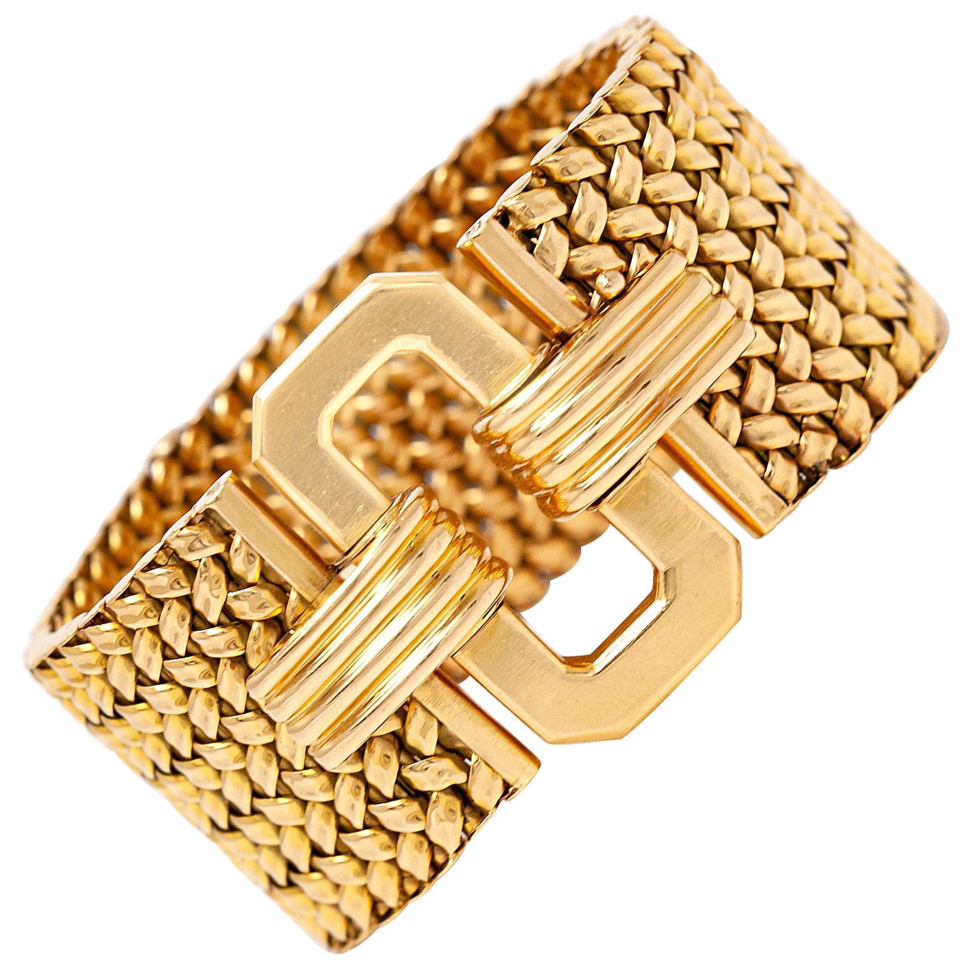 1960s Gold Buckle Bracelet