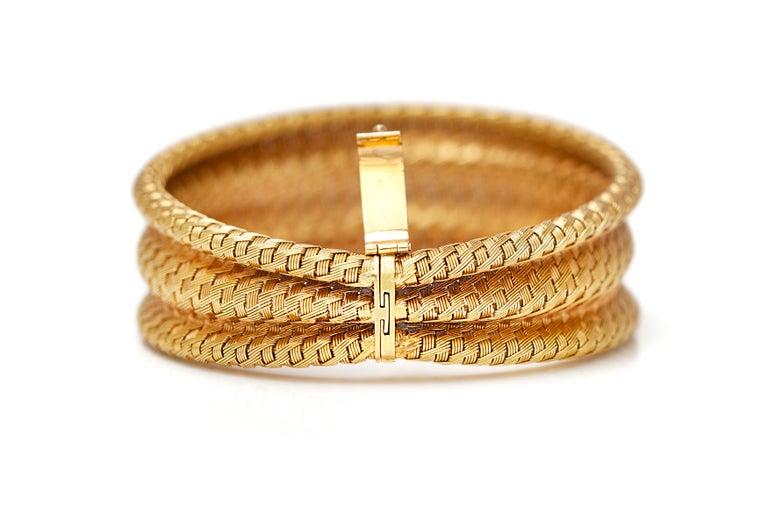 Women's or Men's 1960s Gold Cuff Bracelet For Sale