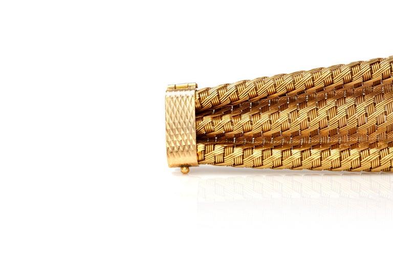 1960s Gold Cuff Bracelet For Sale 1