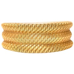 1960s Gold Cuff Bracelet