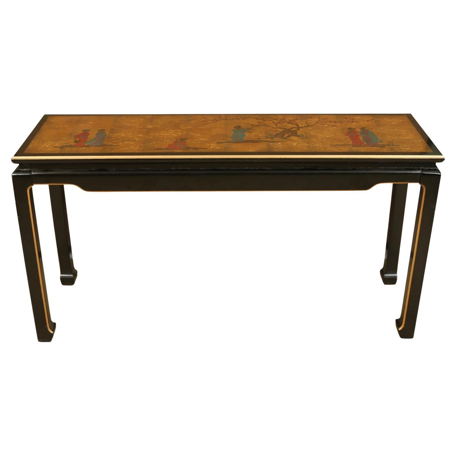 1960's Gold Leaf Asian Console