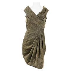 1960s Gold Lurex Cocktail Dress