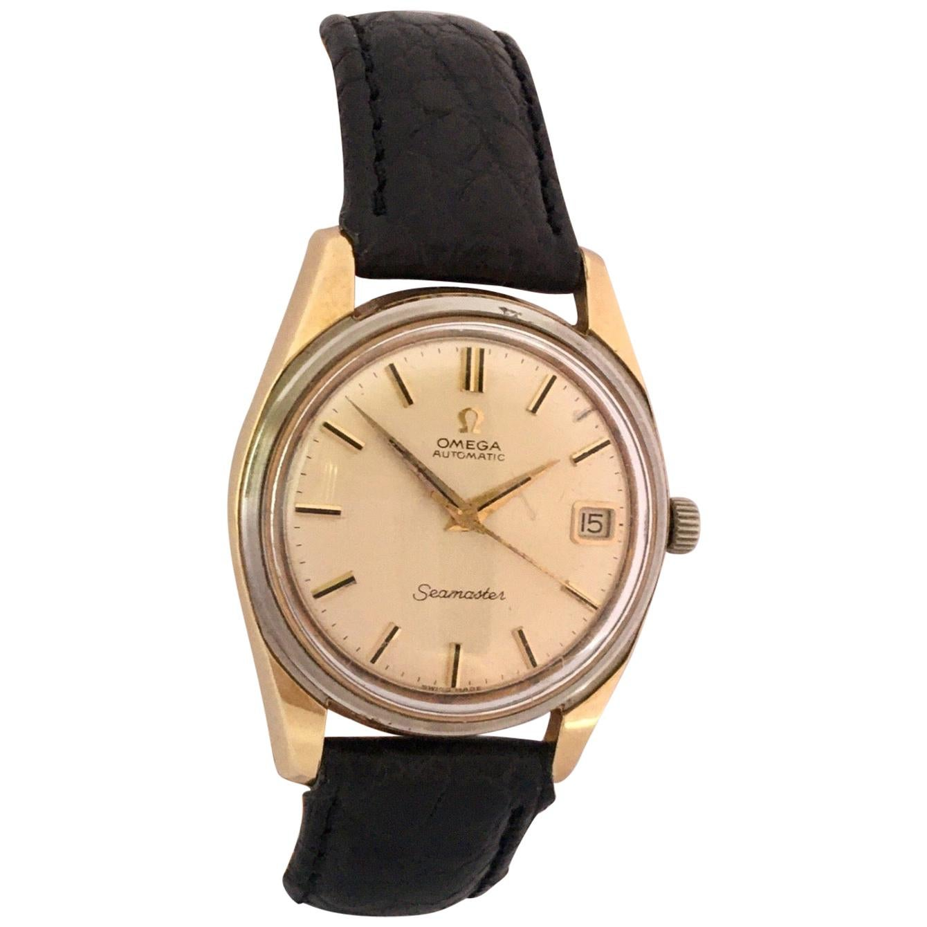 1960s Gold-Plated and Stainless Steel Omega Seamaster Automatic Wristwatch