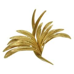 1960s Gold Stylized Bird Brooch