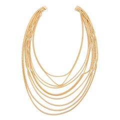 1960s Gold Tone Multi Strands Necklace