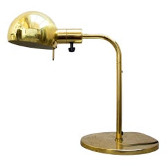 1960s Gold Vintage Table Lamp by Metalarte for Hansen Lamps New York