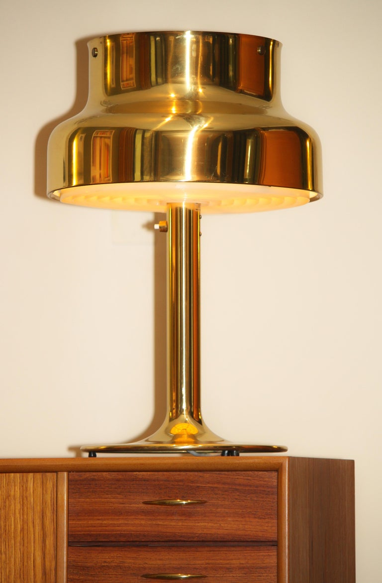 1960s, Golden/Brass Floor and Table Lamp by Anders Pehrson