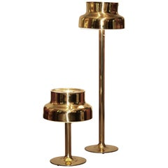 "1960s, Golden / Brass Floor and Table Lamp by Anders Pehrson ""Bumling"", Lyktan"
