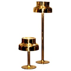"1960s, Golden/Brass Floor and Table Lamp by Anders Pehrson ""Bumling"", Lyktan"