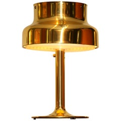 """1960s, Golden or Brass Table Lamp by Anders Pehrson """"Bumling"""" for Ateljé Lyktan"""