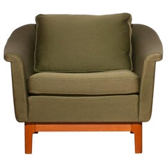 "1960s, Green ""Pasadena"" Lounge Chair by Folke Ohlsson for DUX"
