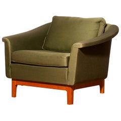 """1960s, Green """"Pasadena"""" Lounge Chair by Folke Ohlsson for DUX"""