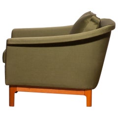 """1960s, Green """"Pasadena"""" Lounge Club Chair by Folke Ohlsson for DUX"""