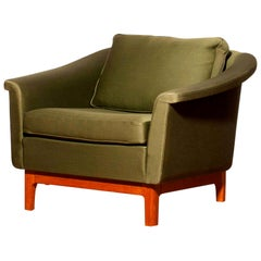 "1960s, Green ""Pasadena"" Lounge Club Chair by Folke Ohlsson for DUX"