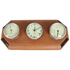 FINAL SALE 1960s Gucci Desk Clock and Barometer Set