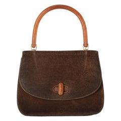 1960s Gucci Suede Handbag
