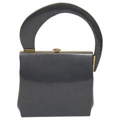 1960s Gunmetal Handbag