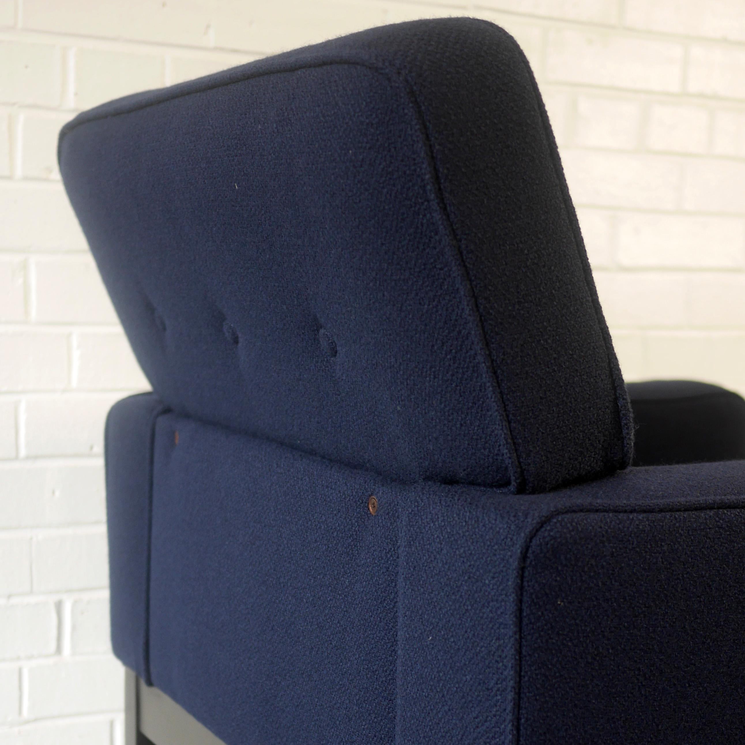 Pleasant 1960S Guy Rogers Club Armchair In Ink Blue Wool At 1Stdibs Machost Co Dining Chair Design Ideas Machostcouk