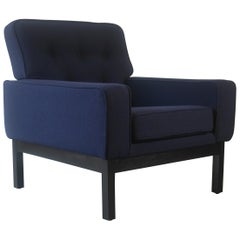 1960s Guy Rogers Club Armchair in Ink Blue Wool
