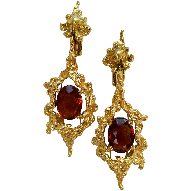 1960s H. Stern Gemstone Drop Earrings
