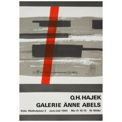1960s Hajek Art Exhibition Poster Abstract Art Pop Art Design