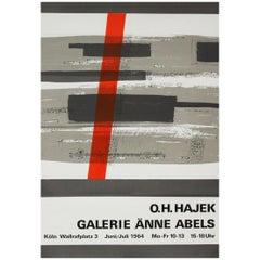 1960s Hajek Art Exhibition Poster Abstract Art Pop Art Design