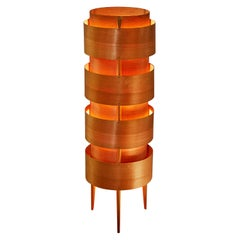 1960s Hans-Agne Jakobsson Wood Tripod Floor Lamp for AB Ellysett