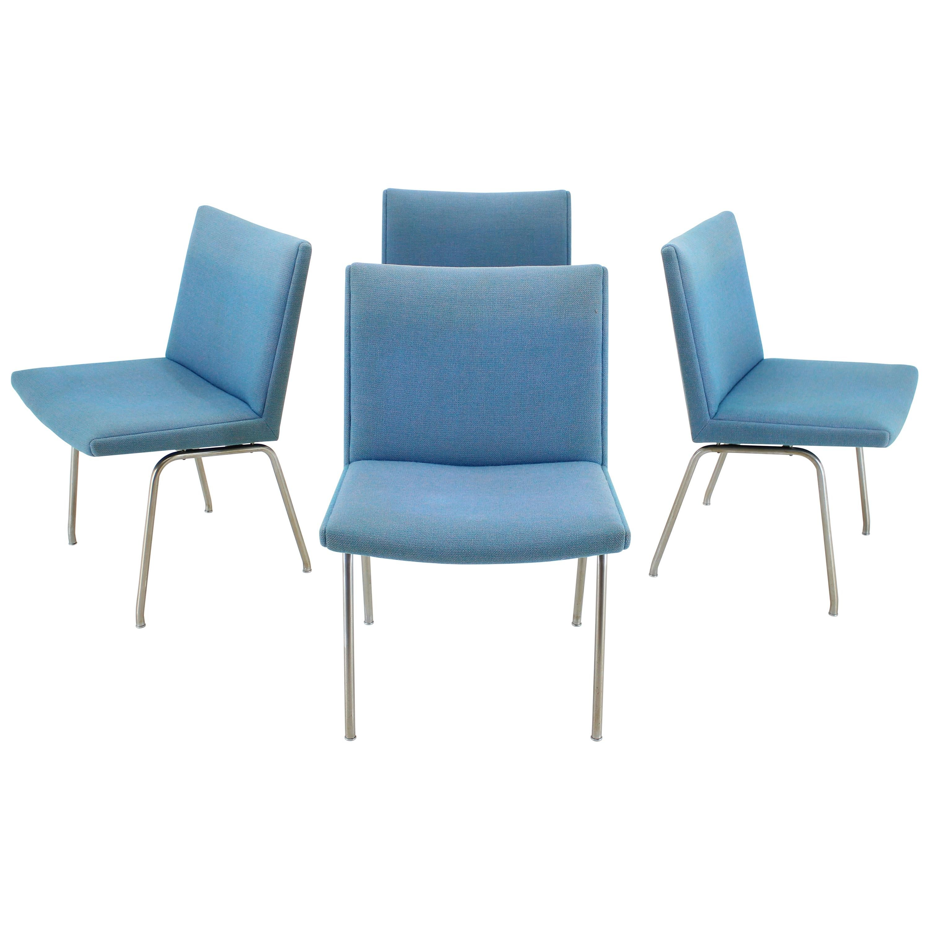 1960s Hans J. Wegner Airport Lounge Chairs for A.P. Stolen, Set of 4